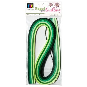 Papel para Quilling - Verde