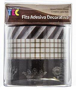 Conjunto Fita Adesiva Washi Tape Coroas