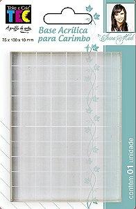 Base Acrílica para Carimbo 75 x 100 x 10mm