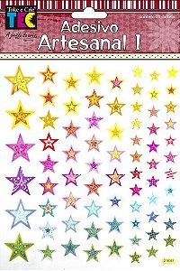 Adesivo Artesanal - Estrelas Mistas