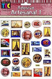 Adesivo Artesanal - Selos de Viagem