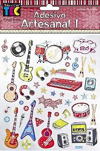 Adesivo Artesanal - Musica
