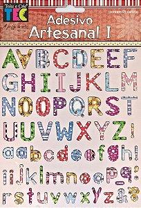 Adesivo Artesanal - Alfabeto Estampado