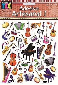Adesivo Artesanal - Instrumentos Musicais
