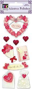 Adesivo Fofinho - Corações Apaixonados