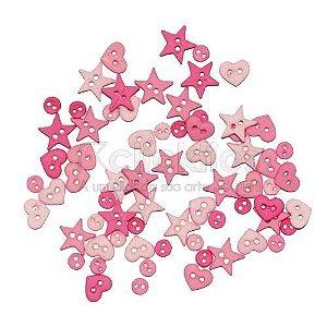 Botões para Apliques Rosa