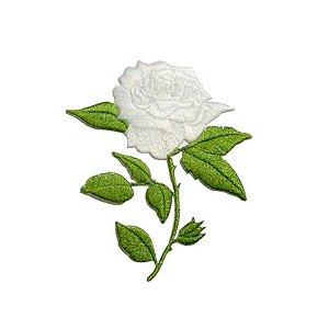 Patch Rosa 1 Flor Branca