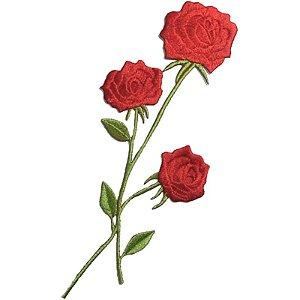 Patch Rosa Vermelha Grande