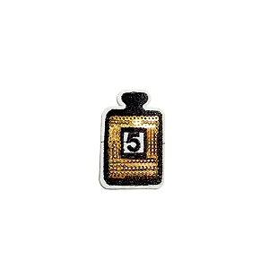 Patch Perfume Dourado e Preto