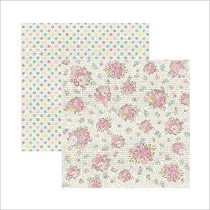 Folha de Scrapbook Buquê de Flores