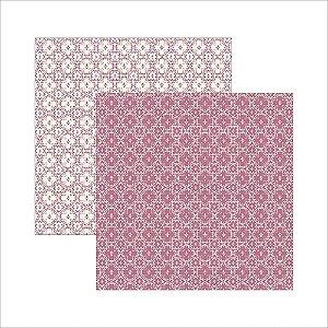 Folha de Scrapbook Pink Nobre