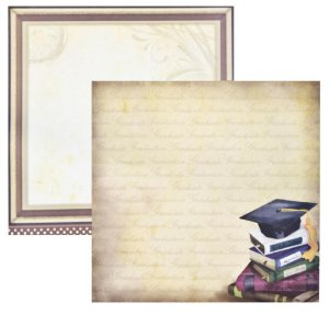 Folha de Scrapbook Formatura Livros