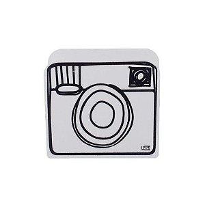 Porta Lápis Desenho Câmera Branco