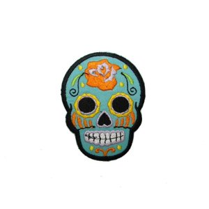 Patch Caveira Mexicana Azul