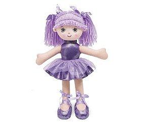 Boneca Bailarina com Glitter Roxa