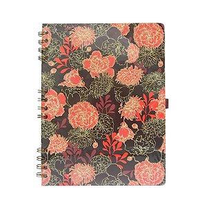Caderno Médio Vermelho Escuro