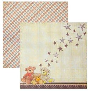 Folha de Scrapbook Ursos e estrelas