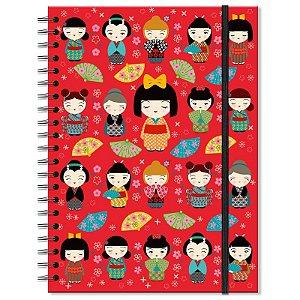 Caderno Estampado Japinhas 200 folhas