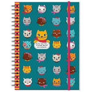 Caderno Estampado Gatinhos 200 folhas
