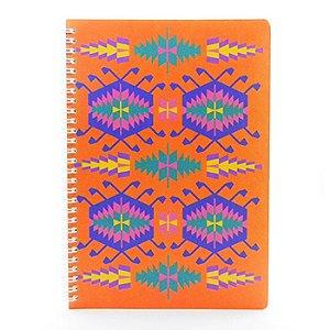 Caderno Estampa Étnica Laranja