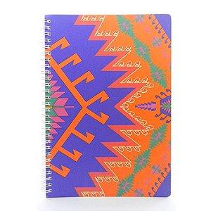 Caderno Étnico Azul