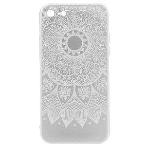Capa Case Mandala Branca - iPhone 7