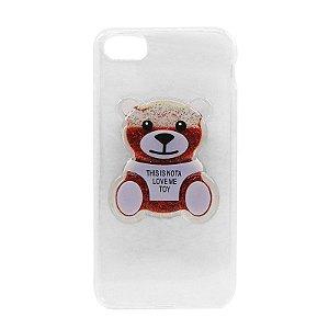 Capa Case Ursinho Vermelho- iPhone 7