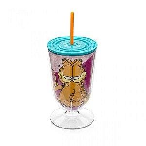 Taça com Canudo Garfield