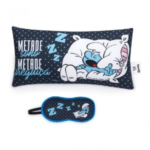 Almofada e Mascara Smurfs