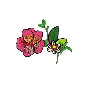 Patch Arranjo com Flor Grande Rosa
