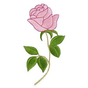 Patch Rosa Grande com Caule