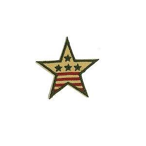 Patch Estrela Militar Bege com Verde