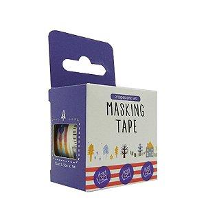 Conjunto Fita Adesiva Washi Tape Estações