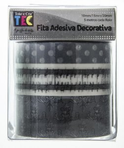 Conjunto Fita Adesiva Washi Tape Notas Musicais