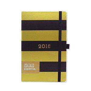 Agenda 2018 Gold Listras Pretas