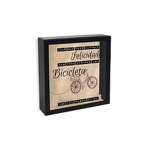 Quadro Cofre Desejos Bicicleta