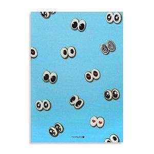 Caderno Brochura com Pauta Olhos