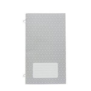 Refil Planner Organizador 125x200mm Caderno Avulso Cinza