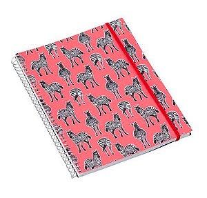 Caderno Universitário 192 Folhas Zebra