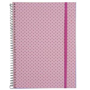 Caderno Universitário 96 Folhas Poá Rosa Claro