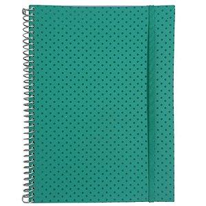 Caderno Universitário 96 Folhas Poá Verde