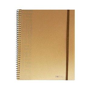 Caderno Universitário sem Pauta Ouro