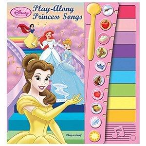 Livro com Xilofone e Canções Princesas