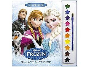 Livro de Colorir Frozen com Aquarela