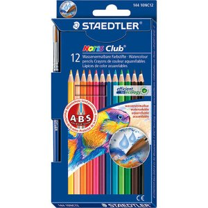 Lápis de Cor Aquarelável Staedtler 12 Cores