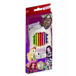 Lápis de Cor 12 Cores Aquarelável - Ever After High