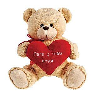 Urso Declaração de Amor Cinza