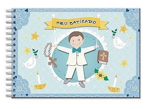 Álbum de Recordação Batizado Menino