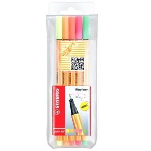 Kit Stabilo 05 cores - Neon - Point 88