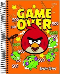 Caderno 1/4 Angry Birds